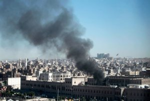Saudiska bomber över Jemen