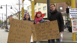 Jonas, Amanda i ACE-protest