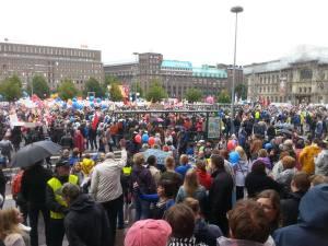 storstrejk, Helsingfors, Finland 150918
